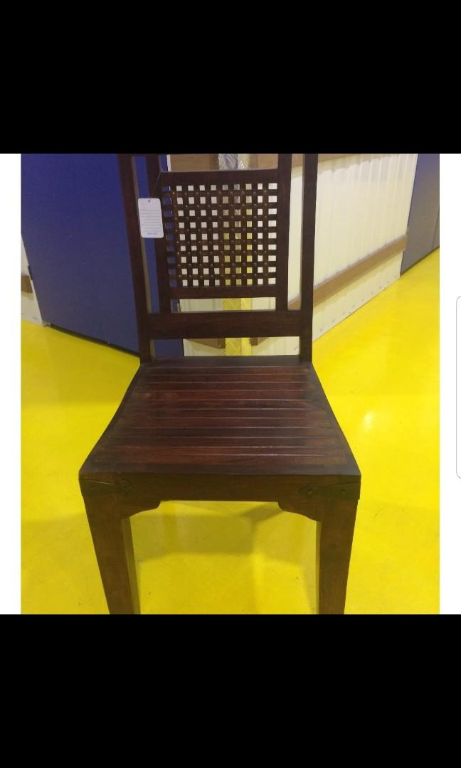 Teak Wood Dining Table 6 seater ( with 6 chairs)
