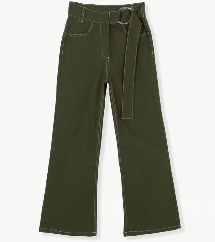 Top Stitching Cargo Pants