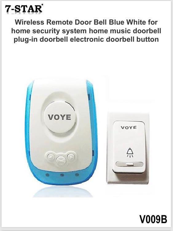 WIRELESS RING DOORBELL CHIME Security Door Bell Volume Control Home Wifi Plug In