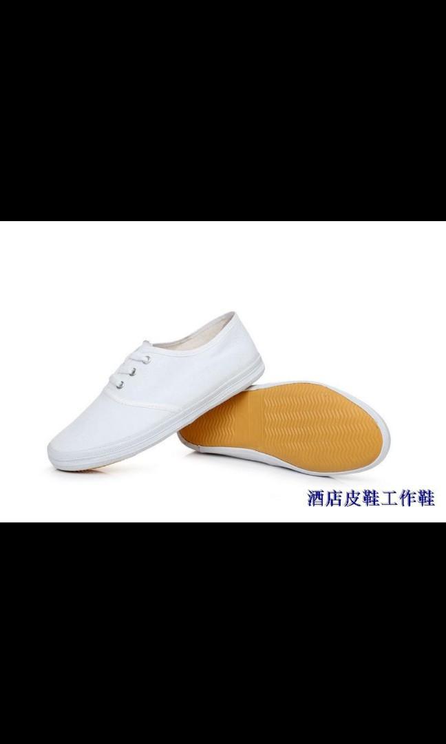 White canvas shoe size 40