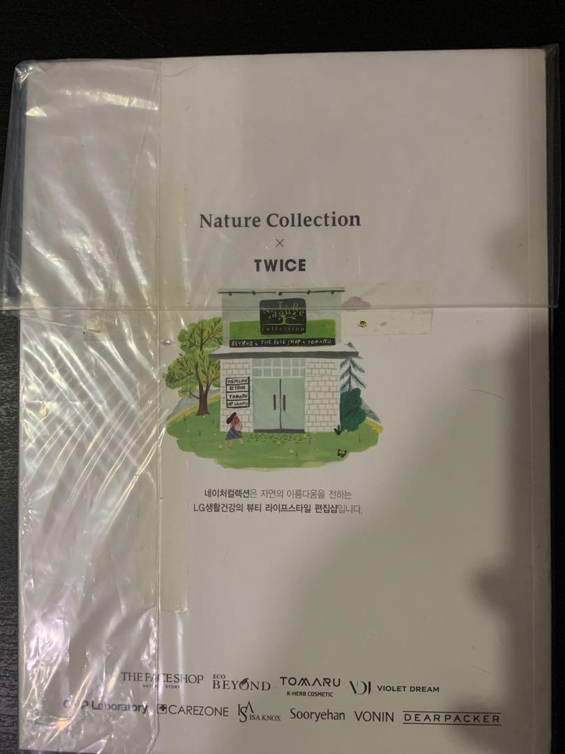 Wts twice nature collection photo book with mina standee