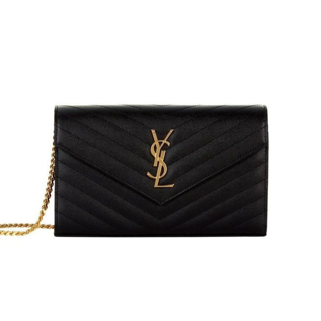 05ed7d70ffd YSL WOC BLACK GHW - LARGE / Yves Saint Laurent Wallet on Chain black with  GHW, Luxury, Bags & Wallets, Handbags on Carousell