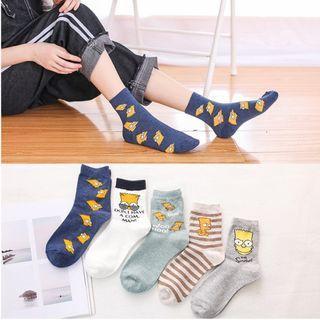 SM12 Simpsons socks