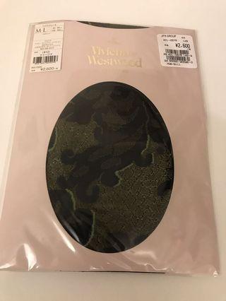 Vivienne Westwood 絲襪黑色日本製,花紋如圖