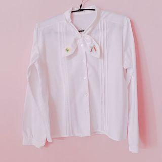 BN White Collar Shirt Work Cute