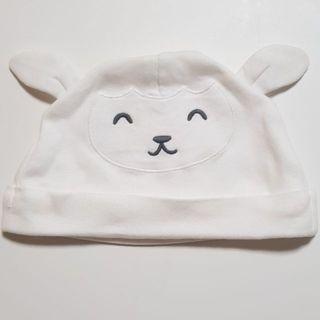 🚚 二手carter's嬰兒純棉可愛羊咩咩帽(9個月)