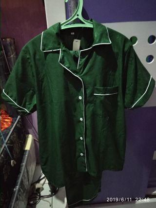 Piyama Green Embos