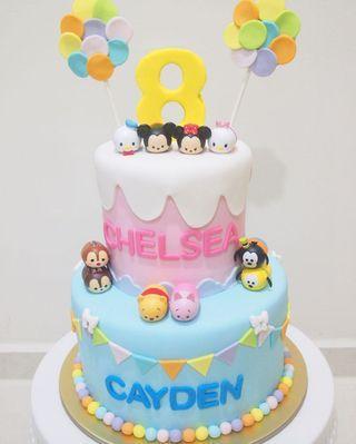 🚚 Tsum tsum cake