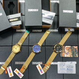 SKMEI Original Business Watch Top Luxury Waterproof Stainless Steel Strap Quartz Watch