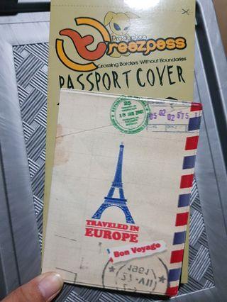 Passport cover - vintage envelope paris design