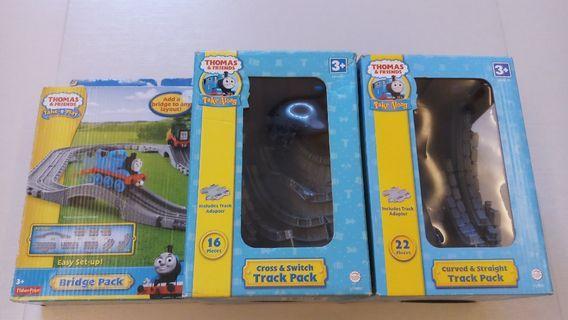 絕版 中古 湯瑪士小火車 Thomas and Friends Take Along Take n Play Tracks 3 set 共60件