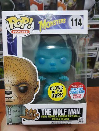 Funko Pop Movies Universal Monsters The Wolf Man NYCC Exclusive GitD