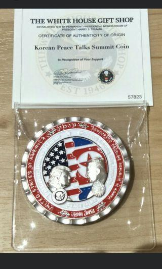 Trump Kim Summit Coin Issued by White House (with COA)