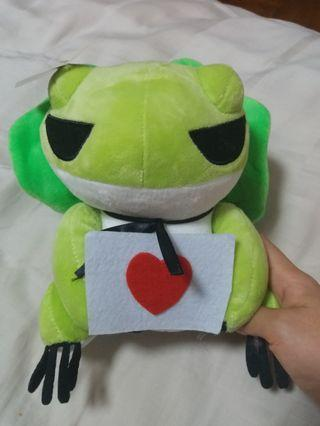 New w tag Travel Frog Plush