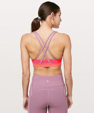 NWT Lululemon Size 8 Energy Bra *MESH (International Women's Day Limited Edition)