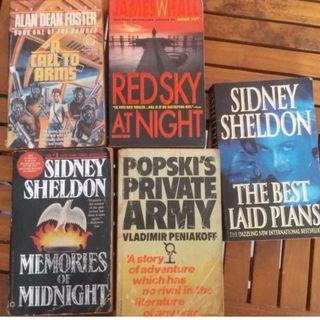 Novel Classic 5 pcs (Sidney Sheldon, Alan Dean Foster, James Whall & & Vladimir Peniakoff