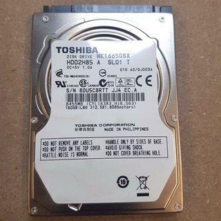 "Toshiba 160GB 2.5"" SATA Hardisk"
