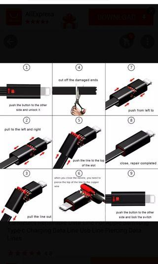 🚚 Repairable USB cable