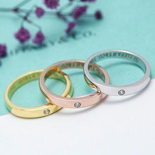 Tiffany 蒂芙尼 訂婚戒指單鉆男女指環情侶款對戒