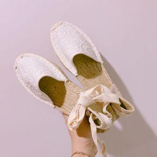 🚚 美國🇺🇸專櫃品牌平底漁夫鞋綁帶麻編鞋
