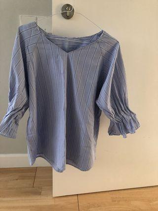 blue stripes top all size