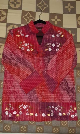 Blazer Batik Roebini Exclusive Pink