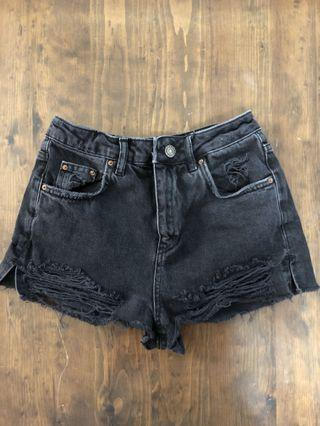 High Waisted Top Shop Jean Shorts (Size 4)