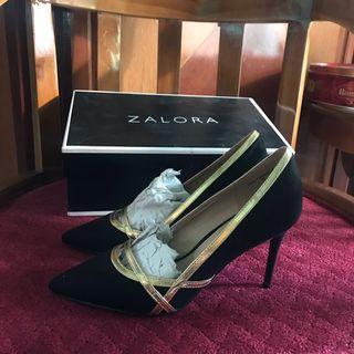 Zalora Sandal Heels Black Hitam 35