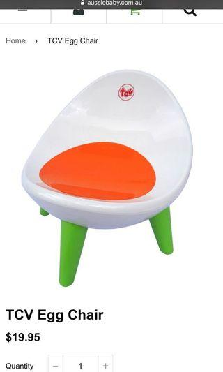 🚚 Tcv Children toddler egg chair stool with storage