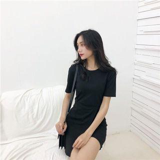 🚚 近全新 黑色短袖包臀洋裝