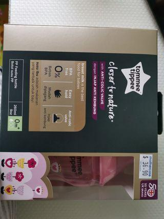 BN sealed Tommee Tippee 0m+ PINK 260ml