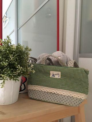 Cute checker polka dot vintage green women mini bag