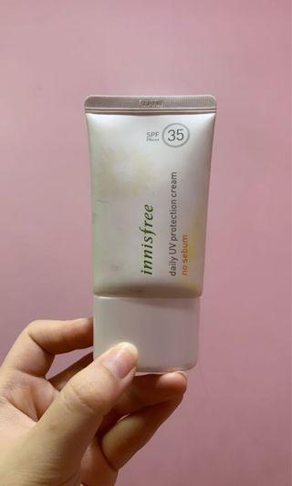 Innisfree sunscreen daily uv protection cream no sebum