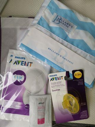 BUNDLE Philips Avent soothie 0-3m with nursing COVER + Freebies