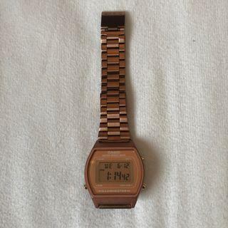 Rose gold Casio watch