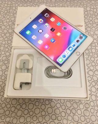 IPad mini 4 128gb cellular sim card wifi Gold Full set