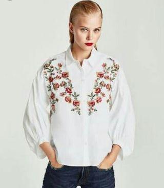 Zara Trafuluc Embroidered Top