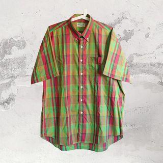 🚚 Pierre Cardin紅配綠格子襯衫