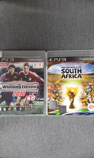 PS3 Winning Eleven 2009 + 2010 + FIFA 2014 + FIFA world cup of South Africa