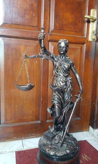 Patung Pajangan lady Justice / Dewi Keadilan 80cm