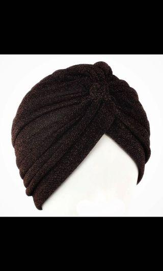 Black glittery adult ladies lady turban
