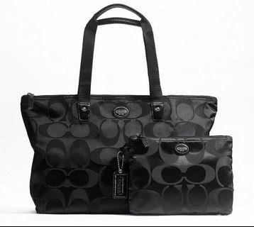 NWT Authentic Coach Signature Weekender Bag