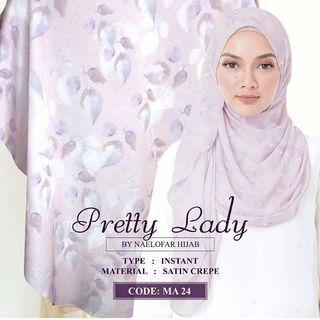 Naelofar Pretty Lady Instant Shawl Hijab Misty Rose