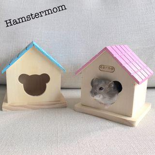 Small Wooden Dwarf Hamster House Toy