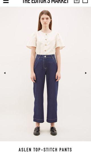 tem aslen top stitch pants