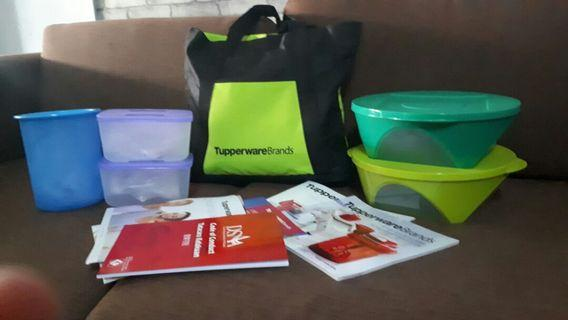 Tupperware Starter kit and Emerald Bowl