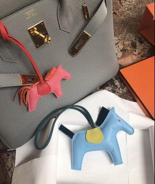 Pink and orange Hermes inspired Grigri Rodeo