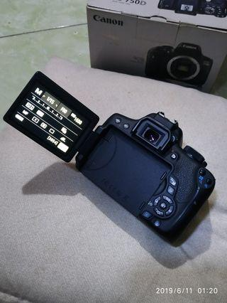 Canon eos 750d wifi body only