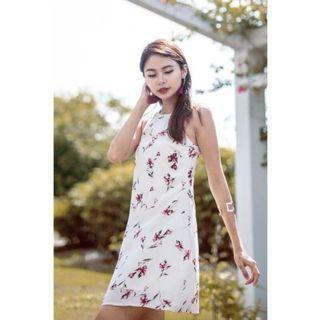 GINNY FLORAL DRESS IN CREAM
