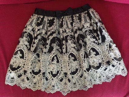 NaNa De Luxe Korea black lace skirt